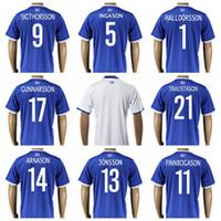 Wholesale 2016 Iceland Soccer Jersey SIGTHORSSON GUNNARSSON Football Shirt Uniform GUDJOHNSEN TRAUSTASON JONSSON SIGURDSSON INGASON