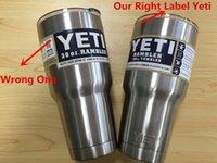 Wholesale NEW Bilayer Stainless Steel Insulation Cup OZ OZ YETI Cups Cars Beer Mug Large Capacity Mug Tumblerful ml