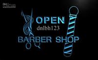 barber pole light - LB006 TM OPEN Barber Shop Pole Scissor Neon Light Signs Advertising led panel