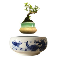 best potted trees - 2016 Japan High Tech Gadgets Magnetic Levitating Floating Bonsai Tree Indoor Ceramics Glaze Pottery Pots Best Gifts for Dad No Plant G