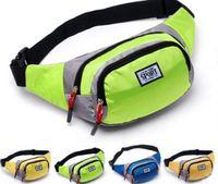 Wholesale Fashion Unisex Bag Travel Handy Hiking Sport Fanny Pack Waist Belt Zip Pouch Pure Color Multi Function Waist Bags