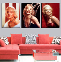 Oil Painting animals pictures gallery - Home Decor Marilyn Monroe Canvas Painting Modern Realist Figure Paintings Posters And Prints Room Art Gallery Piece No Frame