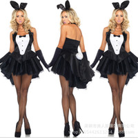 Wholesale Bunny Girl Rabbit Costumes Sexy Halloween Costume for womenClubwear Party Wear Women Plus Size Adult AnimalCosplay Fancy Dress