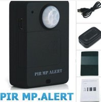 Wholesale New A9 Wireless PIR Infrared Sensor Motion Detector GSM Alarm System Alert Monitor Remote Control Anti theft Black White