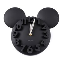 Wholesale 2016 New Arrivals Wall Clocks Creative Modern Wall Stickers Unique Big DIY D Wall Clock Home Decor Decoration