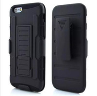 armor soldier - Future soldier series Armor case with kikstand belt clip case in black hard cover for iPhone SE S PLUS Samsung galaxy S7 edge HTC LG