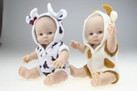 babies dolls that look real - 8 Inches Collectible Twins Reborn Baby Doll Full Silicone Vinyl Babies Dolls That Look Real Children Birthday Holiday Gift