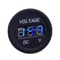 Wholesale 12V V Car Motorcycle LED DC Digital Display Voltmeter Waterproof Meter M00100 CAD