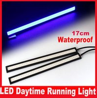 car lights - 2Pcs CM LED COB DRL Daytime Running Light Waterproof External Led Car Styling Car Light Source Parking Fog Bar Lamp