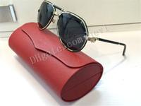 Los sunglass de cuero de la manera sunglass polarizaron los hombres de la lente diseñador de la marca de fábrica diseñador marco oversized sunglass las piernas de cuero diseño al aire libre gafas de sol