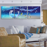 abstract fish painting - Unframed Pieces art picture Wall decoration Canvas Prints sea fish tank ship tree orchid flower Porcelain vase cup Pot