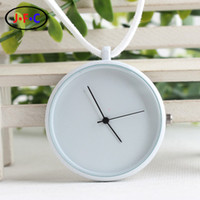Wholesale Post modern minimalist black and white geometric circular pocket watch a birthday gift for Valentine s Day gift YS001