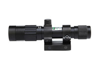 Wholesale Outdoor Hunting mW Tactical Green Laser Sight Scope Focus Adjustable Green Laser Illuminator With mm Rail Mount and Tail Line Switch