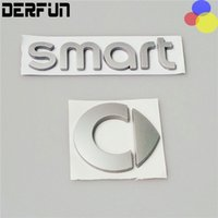 Wholesale Best Car Styling Smart Letter Chrome Smart Badge Emblem Sticker Car Trunk Sticker For FORTWO FORSPEED FORFOUR ROADSTER FORSTARS