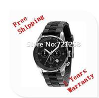 Cheap free hk shipping _Absolute luxury New Japan Quartz Movement Green Black Belt Mens Watch AR5866 5866+original box