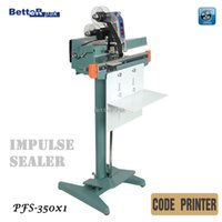 Wholesale PFS X1 Bottom bar heatting sealer Aluminum structure pedal sealing machine band sealer with code printer V Hz