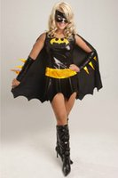 batman costumes adults - sexy Batman Super Hero womens Adult Halloween Stag Party Fancy Dress Costume Outfit one size