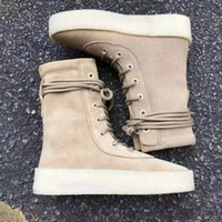 Wholesale Kanye West Season Crepe Boot Suede Leather Taupe High Footwear Sneaker Designer Brand Running Shoes Fashion Men Women Sports Shoes