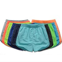 Wholesale Summer Trunks Beach Athletic Men Fashion Casual High Waist Short Gym Sport Loose Male Running Clothing Candy Pure Color D023
