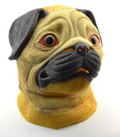 Wholesale LNL Pug Mask Dog Lover Pooch Halloween Costume Latex Adult Gag Gift Novelty