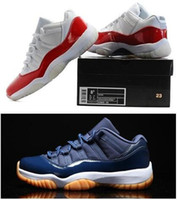 Wholesale Air Retro Top quality retro white red Low Varsity Red Navy DS XI PRE ORDER Men Women size