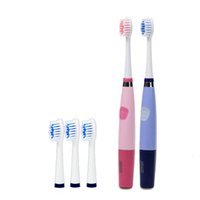 battery tooth brush - New Band SEAGO Battery Operated Sonic Electric Toothbrush For Adults With Teeth Brush Heads Oral Care Dental Color Pink Blue SG