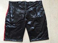 Wholesale Faux Latex Pants for Men Fetish Vinyl Latex Shorts for Men Pole Dance Shorts Sexy Costume Pole Dance Underwear Mens Exotic Pants