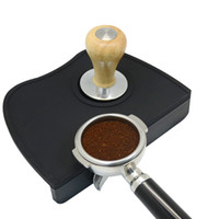 Wholesale Coffee Tamping Mat Espresso Tamping Mat Tamper Holder Dropped Edge Corner Silicone Non Slip Barista Coffee Mat