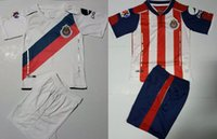 Wholesale 2017 Guadalajara de home kids kit Chivas Soccer Jersey A PULIDO O PINEDA UNAM PUMAS Maillot de foot shirts