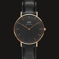 Wholesale Mens Watches Top Brand Luxury DW Men Military Sport Wristwatch Leather Quartz Watch Women Dress Watches Fashion Casual Wristwatches