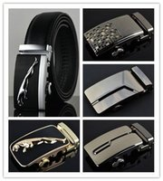 Wholesale HOT Fashion MEN s Genuine Leather Waist Strap Belts Automatic Metal Buckle Gold Silver Split Cow Leather LuxuryCX015 Man s belt
