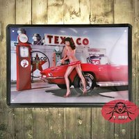 Metal sign vintage Retro Chic lamentable Gil Elvgren Pin Up sexy placa de la pared de estaño H-44 160909 #