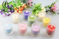 Wholesale Frosted glass candlestick European romantic wedding birthday aromatherapy candles creative candlestick in addition to taste