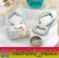 Wholesale DY388 quot Pop the Top quot Flip Flop Bottle Opener Wedding Favors Beach Theme Bridal Shower Party Event Favors Party Gifts
