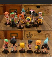 Wholesale Anime One Piece Dolls Action Figure Toys set Doll Cartoon Model Children Baby Gift