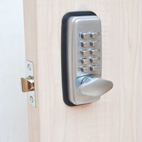 Wholesale ML01SP Mechanical Password Door Lock Deadbolt Code Lock Combination Lock Zinc Alloy Silvery