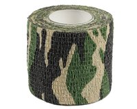 Wholesale Military Tactical Roll Camo Stretch Bandage Adhesive Elastic Paintball Camping Hunting Multifunctional Camouflage Tape M