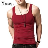 Wholesale Mens Bodybuilding Tank Tops New Square Collar Tank Top Shirt Fitness Men Summer Vest Clothing Singlet Colors M XL