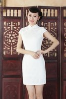 Wholesale Improvement of cultivate one s morality fashion lace short qipao dress The new traditional Chinese costume dress