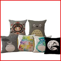 Wholesale 86 TYPE Anime chinchilla Totoro pillow Cases Cushion Pillowcase Cover linen cotton Home soft Textiles beddng sets Christmas gift