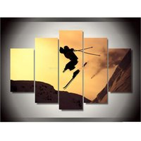 alpine home - Fashion Canvas Printings Alpine Skiing Painting Wall Art Home Decoration Poster Canvas Unframed