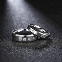 Wholesale Europe and the United States fashion simple couple ring simple personality couple to quit jewelry