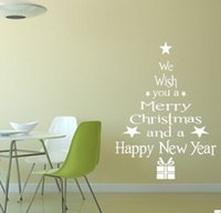 Wholesale M Christmas Series Blessing Christmas Tree Living Room Bedroom Window Glass Wall Sticker