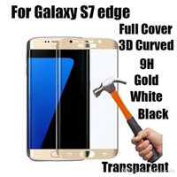 Wholesale For Galaxy Note7 S7 edge S6 edge Full Screen Protector Tempered Glass S6 edge Plus Whole Screen Curve Screen Protector With Retail Package