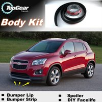 Wholesale Bumper Lip Lips For Chevrolet Trax Tracker Front Skirt Deflector Spoiler For Car Tuning The Stig Recommend Body Kit Strip