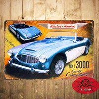 antique convertibles - Metal Tin signs MK1 Sports Convertible Garage Pub Bar Home Restaurant Bar iron Paintings Wall Decor