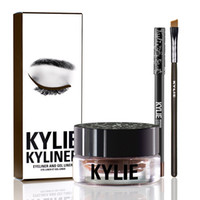 Wholesale 2016 New Kylie Cosmetics By Kylie Jenner Kyliner In Black Brown with Eyeliner Gel pot Brush