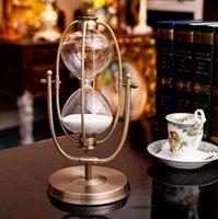 Wholesale Luxury Metal Home Decor Hourglass Sandglass Table Ornament Decoration CM