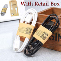 Wholesale Micro USB Cable Charging Charger Adapter Wire For I S Galaxy S7 S6 S5 USB Cable Note Mirco USB m Sync Data With Retail box