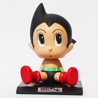 astro gifts - Anime Cartoon Astro boy Toys PVC Figures Dolls Wacky Wobbler Kids Toy Gifts for Children quot CM